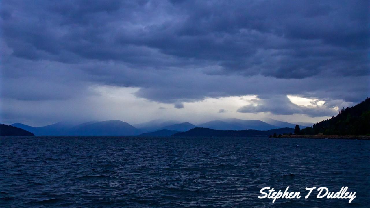 Rain clouds N Pend Oreille, east of Hope