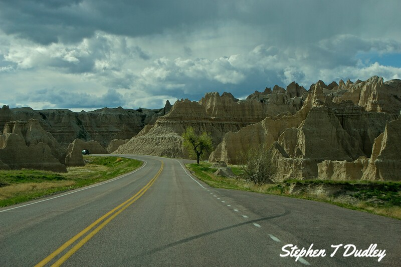 Driving through the Badlands