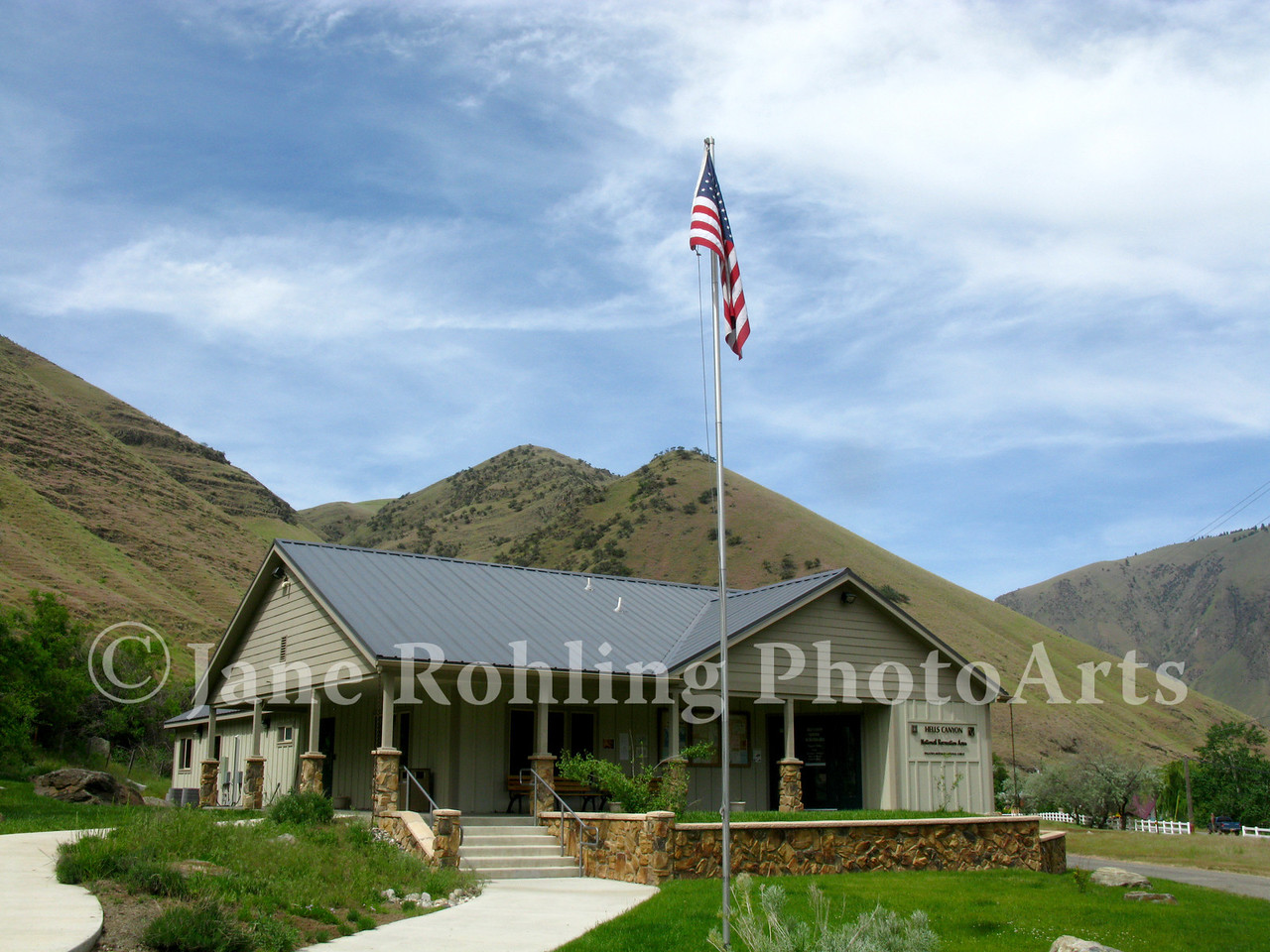 US Forest Serivce Hells Canyon National Recreation Area, ranger station, Riggins, Idaho.