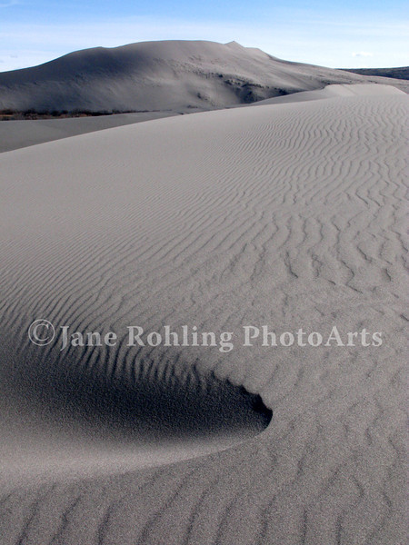 Large sand dunes at Brunea Dunes State Park seem out of place in the high desert near Bruneau, Idaho.