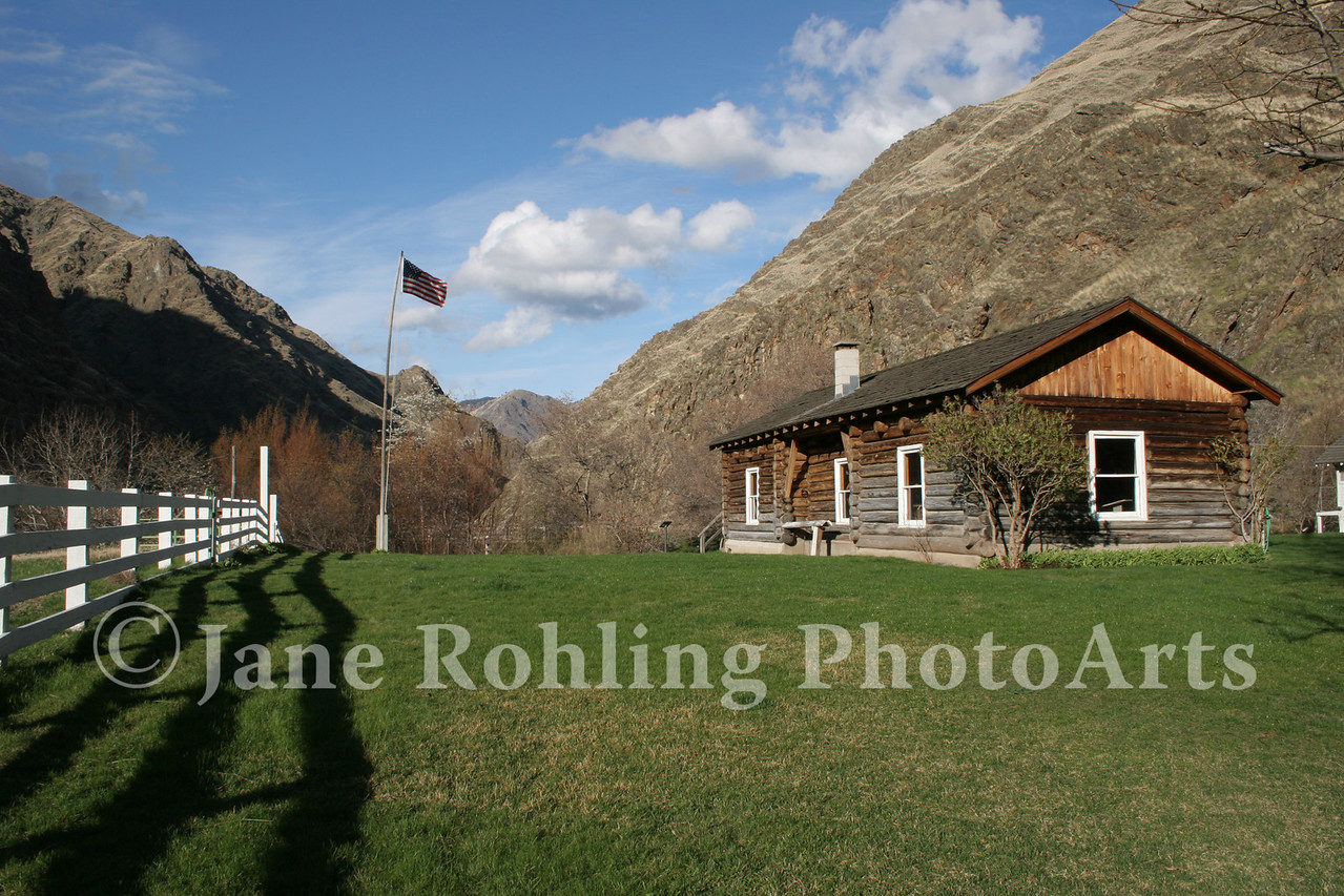 The Sterling Cabin houses a rustic museum at the historic Kirkwood Ranch in Hells Canyon National Recreation Area on the Snake River in Idaho.