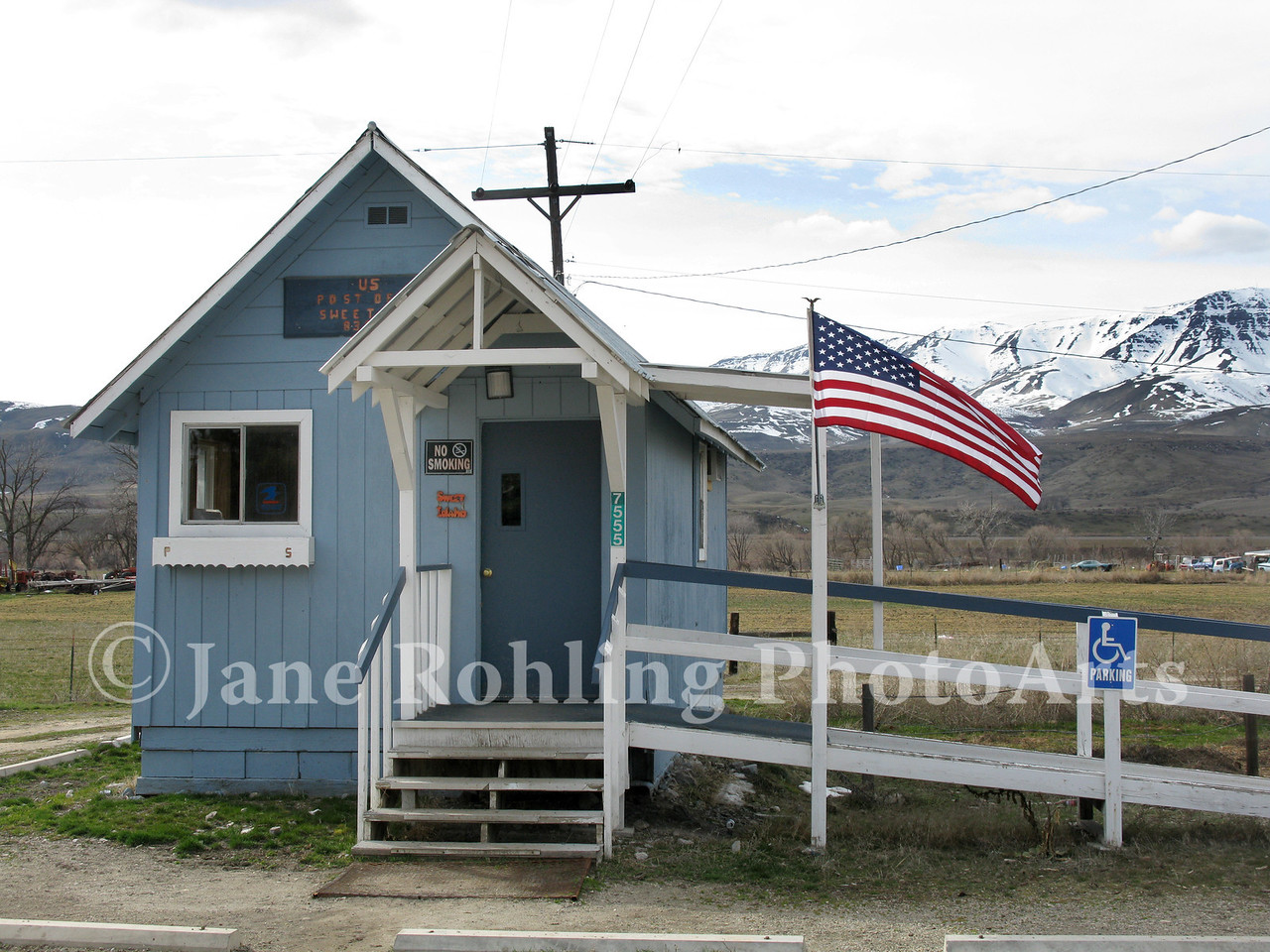 A tiny post office serves the rural town of Sweet, Idaho.