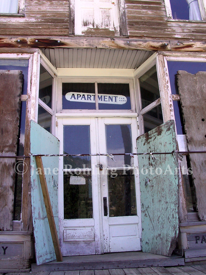 An abandoned building in the Owyhee mountain ghost town of Silver City, Idaho