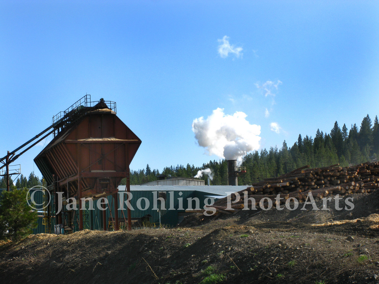 A small lumber mill near Midvale, Idaho.
