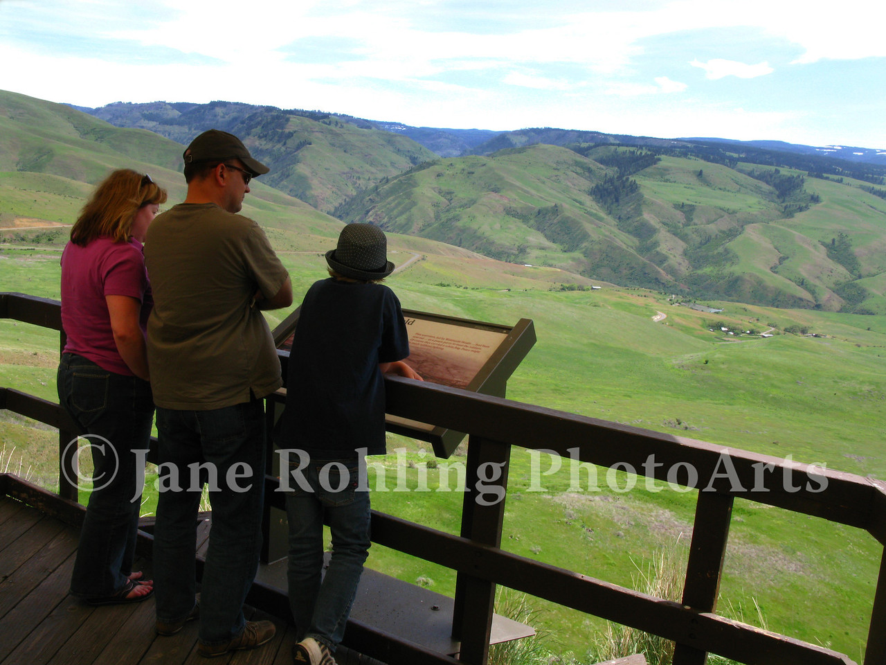 Visitors at White Bird Battlefield, the site of the first battle of the Nez Perce War, near the town of White Bird, along Highway 95 in north central Idaho.