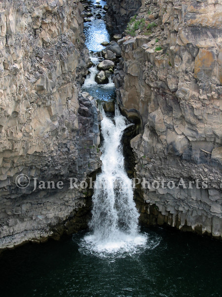 The waterfall at Malad Gorge State Park just off of Interstate 84 in southwestern Idaho.