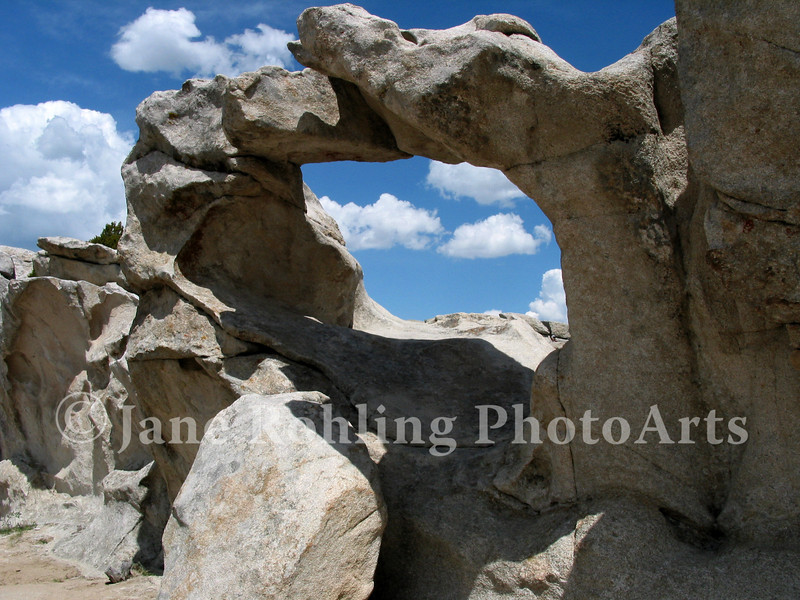 A granite rock window in the City of Rocks Natural Reserve near Almo, Idaho.