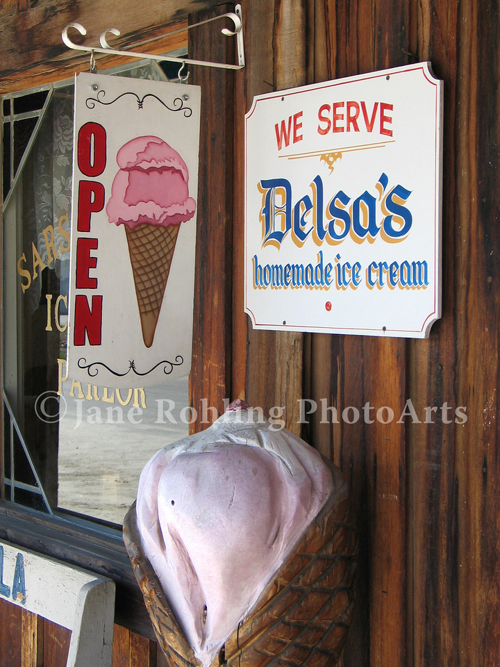 Ice cream shop in Idaho City, Idaho.