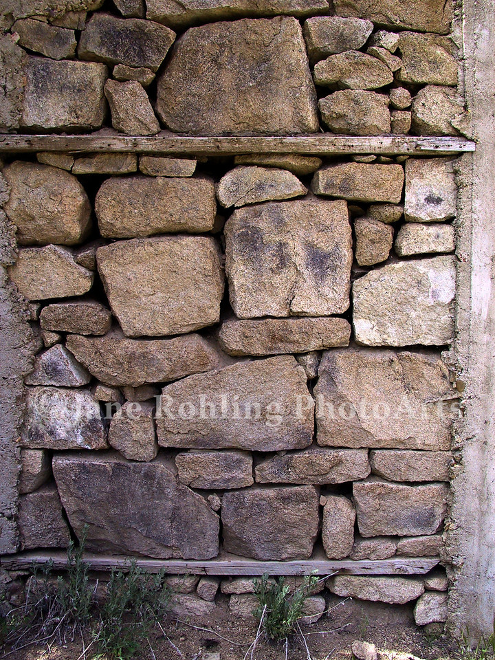 Stone building foundation, Silver City, Idaho in the Owyhee Mountains