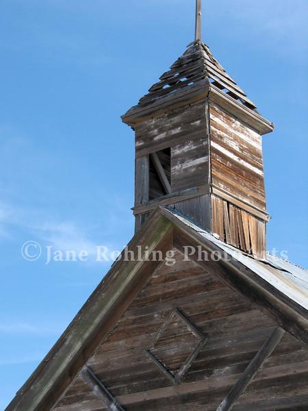 Abandoned church or school near Fairfield, Idaho.