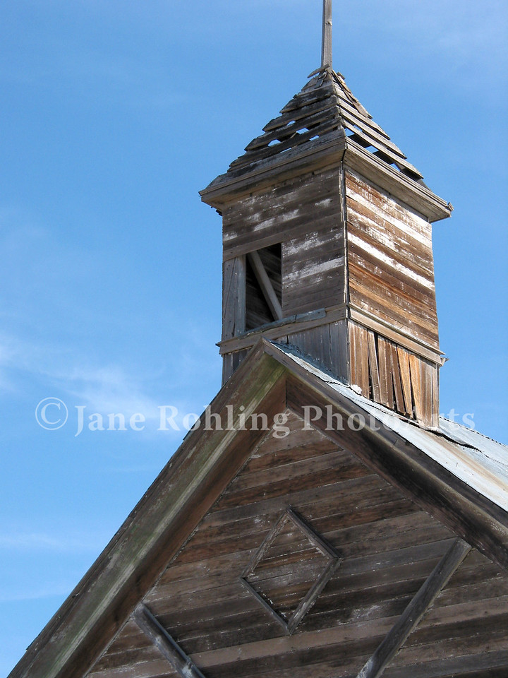 Abandoned church or school near Fairfield, Idaho.