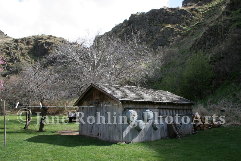 A tool shed at the historic Kirkwood Ranch in Hells Canyon National Recreation Area on the Snake River in Idaho.