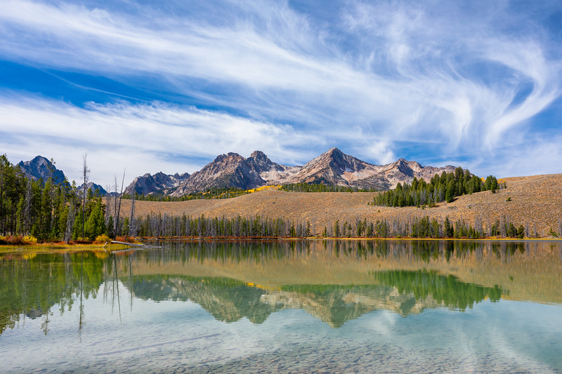 Little Redfish Lake in Fall