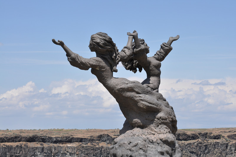 """""""The Twins""""  overlooking the Snake River , Twin Falls, Idaho. 6.09"""