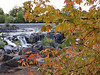 Autumn arrives at the Falls. Snake River, Idaho Falls, Idaho. 9.08