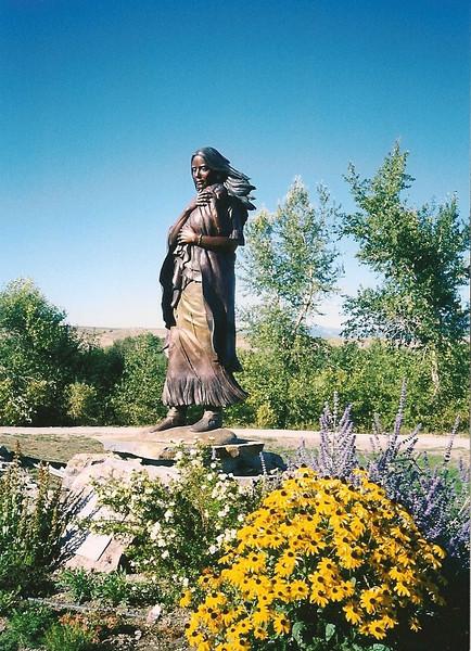 Sacajawea statue in Salmon, Idaho
