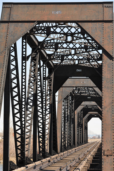 Lorenzo Bridge.  Yes the dates alternate as they are cut outs ....<br /> Idaho. 4.09