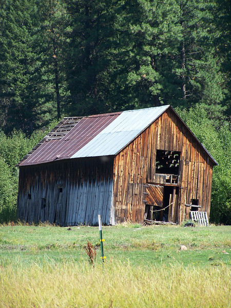 Barn north of Salmon, ID. 8.08