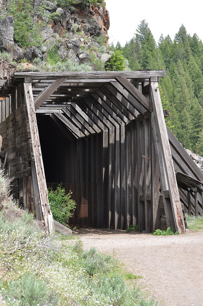 Old Railroad Tunnel at Warm River, near Ashton, Idaho. 6.09