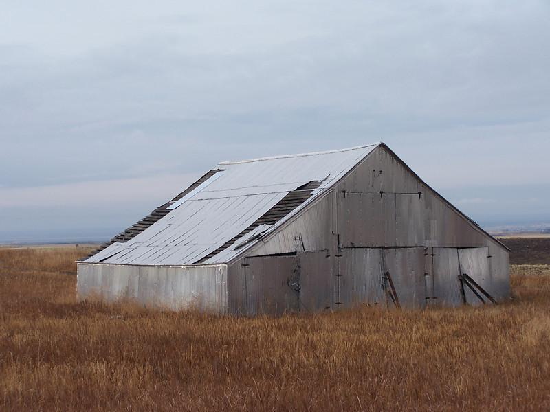 Tin barn near Ashton, Id. 11.08