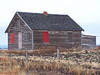 Homestead with Red windows. near Ashton, ID. 11.08