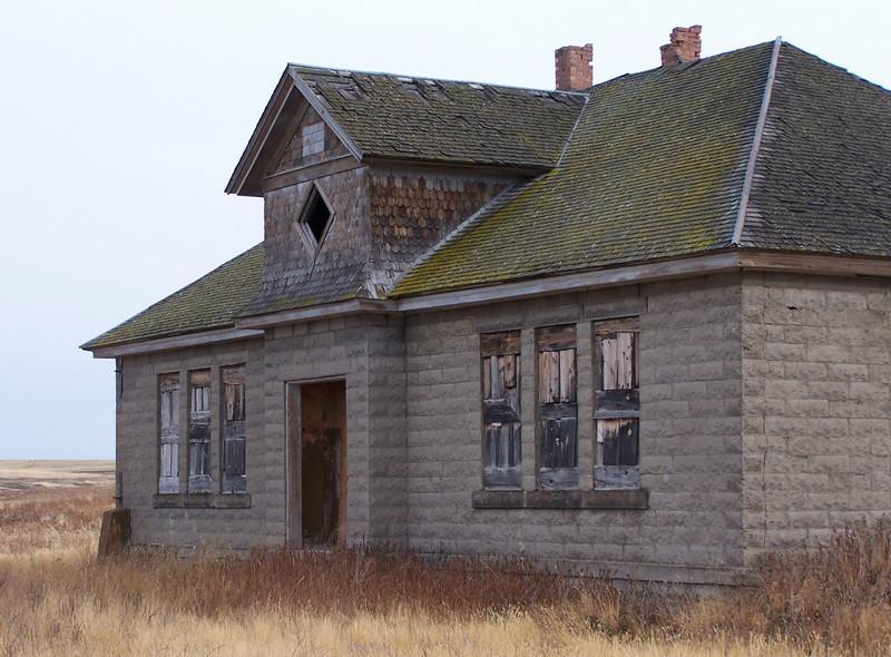 Old schoolhouse near Ashton, ID. 11.08