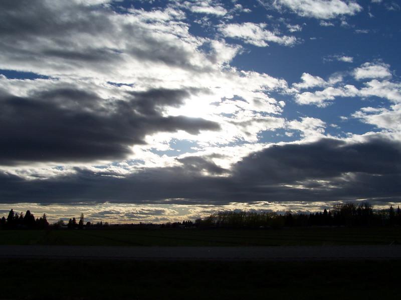 Idaho spring evening sky