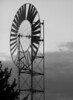 Large windmill in Ammon, Idaho. BW