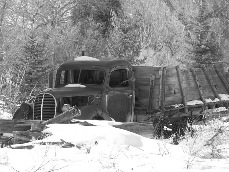 old truck, Heise, ID