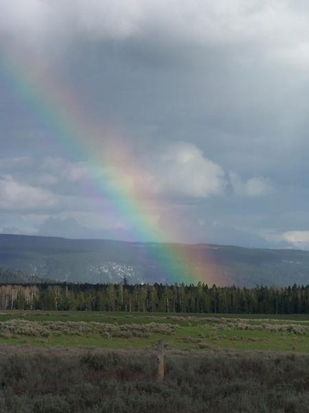 Rainbow near Island Park, ID
