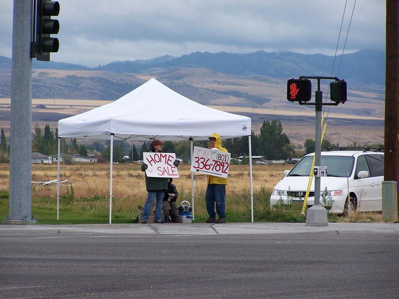 """Creative Marketing"" or ""desperate times call for desperate measures"". Idaho Falls, Idaho 10.08"