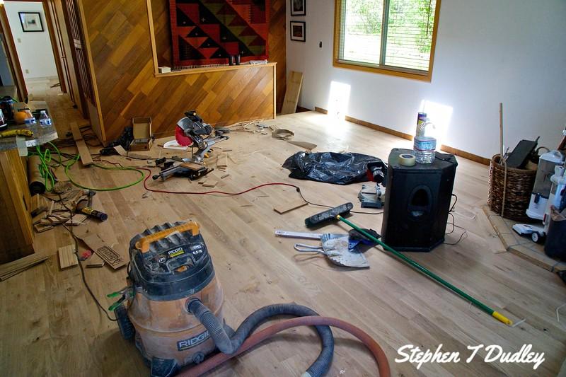 New Hardwood Floor in progress