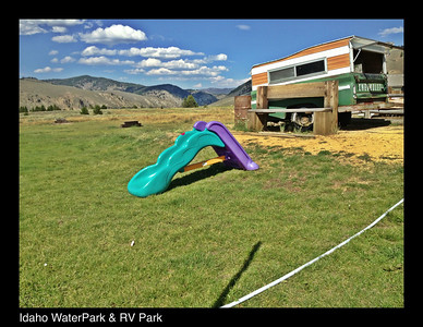 Idaho water slide & tv park. 8.13