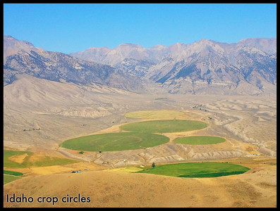 Idaho crop circles, above Mackay, Idaho. 9.12