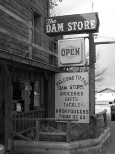 """The Dam Store"" Palisades Dam, Idaho. 10.08"