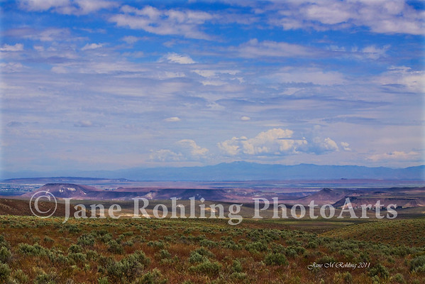 View of the Snake River valley and buttes east of Murphy, Idaho in Owyhee County.