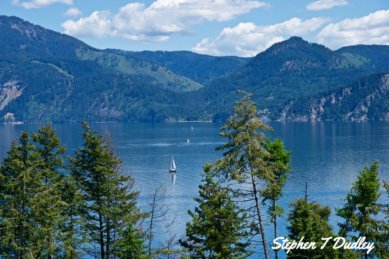 Lakeview from Farragut, Lake Pend Oreille