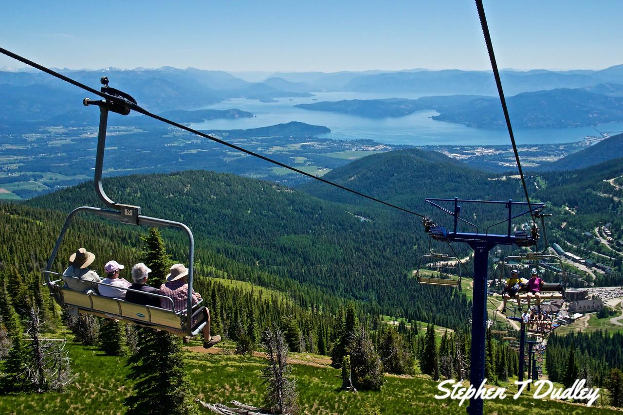 Schweitzer Mountain chair-lift