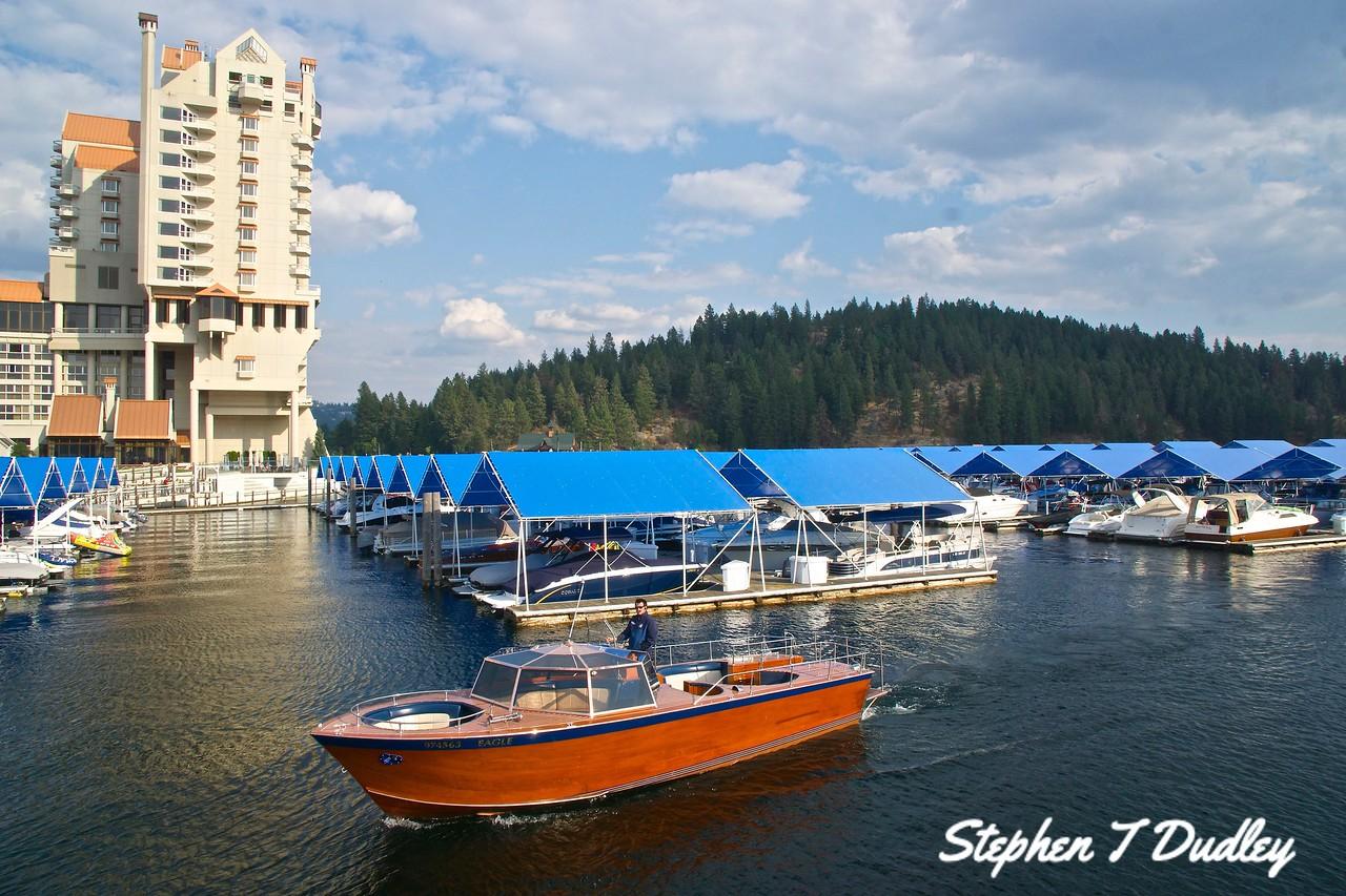 Wooden tour boat-Lake CDA Resort