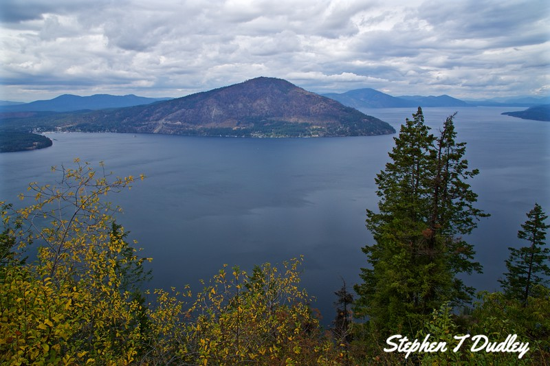 Lake Pend Oreille, N view from Forrest Service Trail