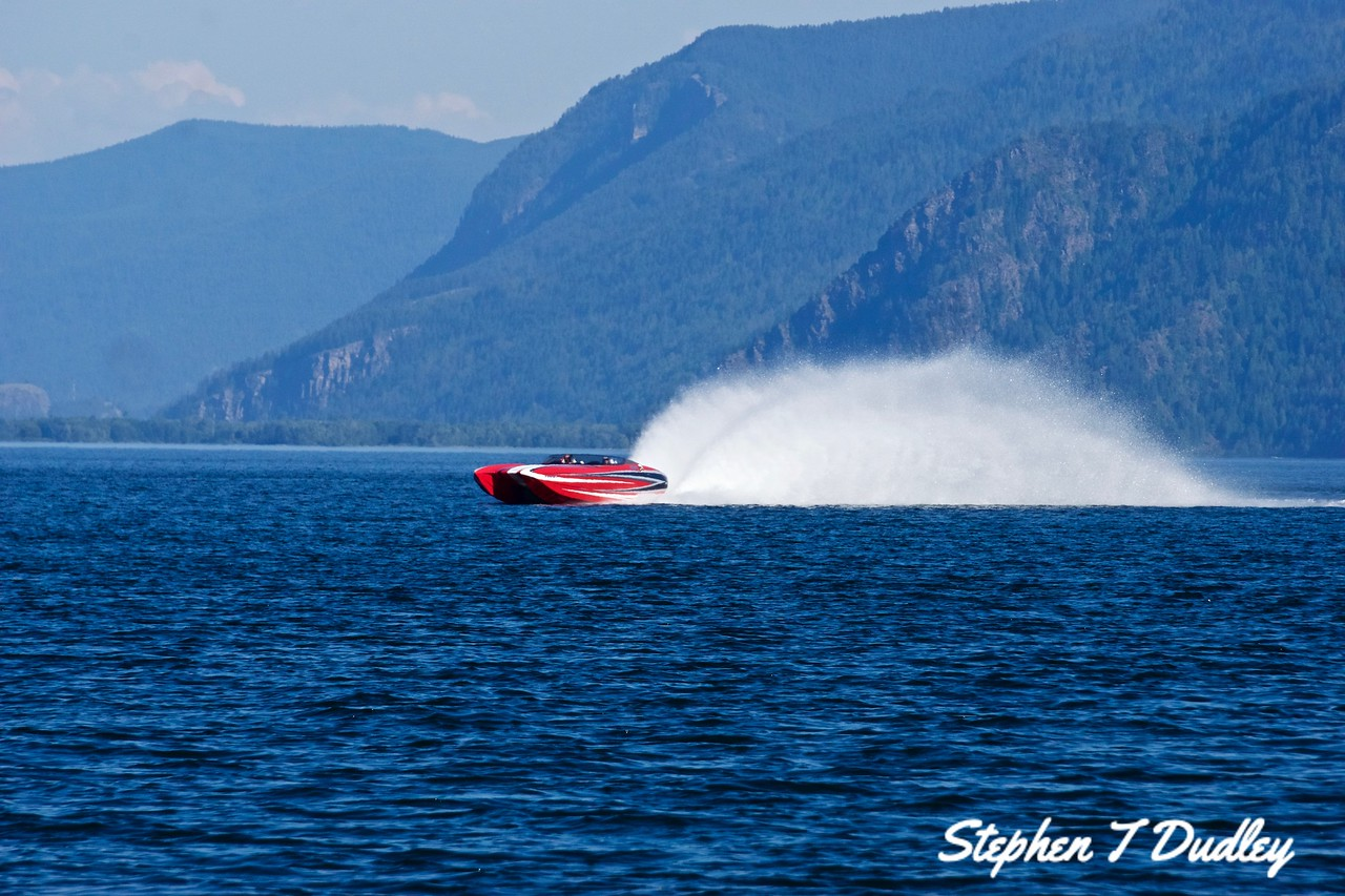 Racing Boat, Lake Pend Oreille