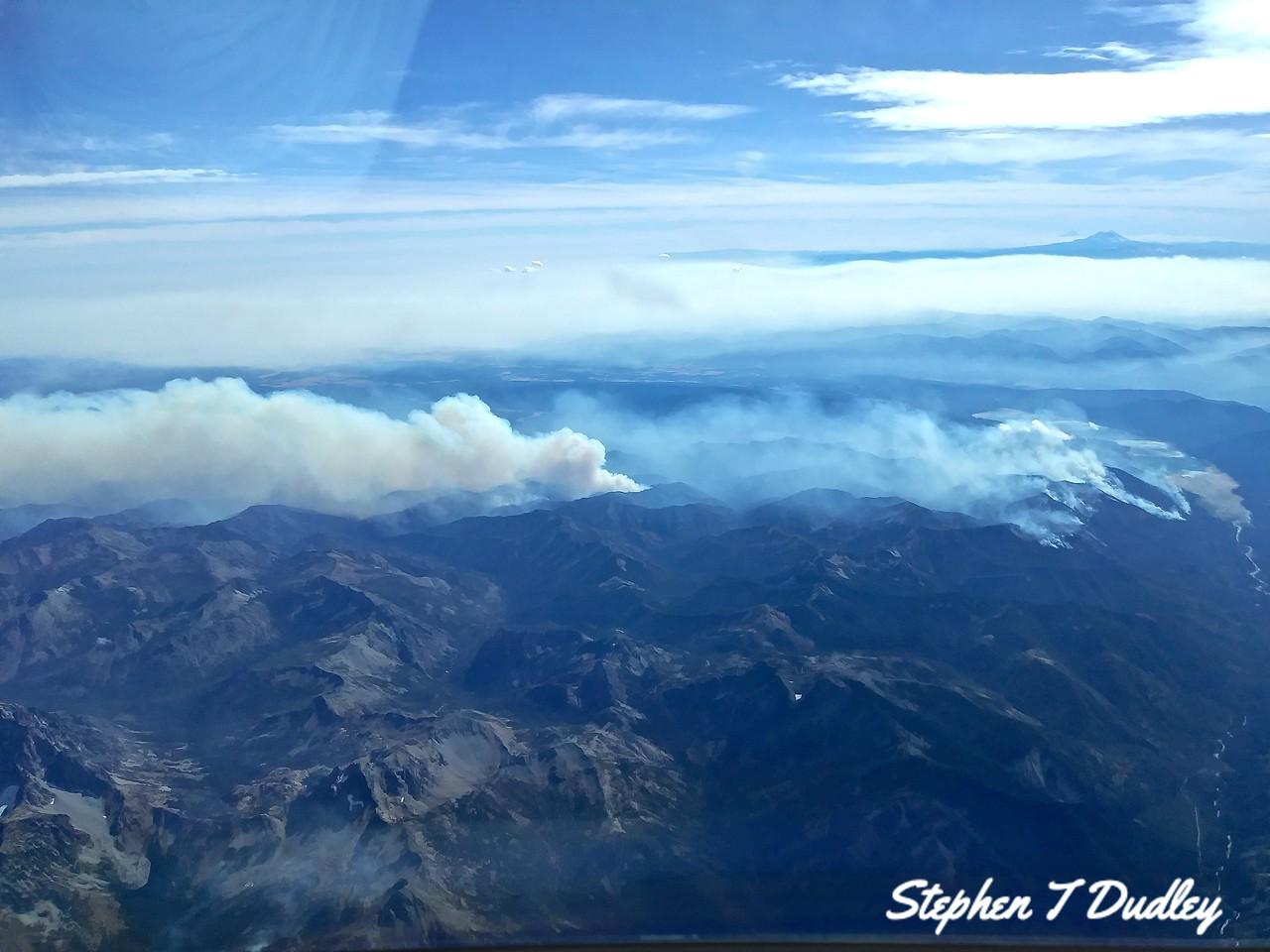 Forrest Fires 29,000 ft. Washington State, Sept. 2017