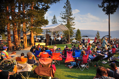 Carrie Rodriguez outdoor concert on the front lawn of Redfish Lake Lodge. Marina at Redfish Lake, Sawtooth Mountains, near Stanley, Idaho. 8.12. http://www.carrierodriguez.com/