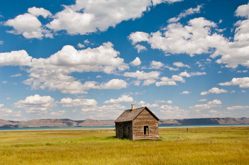 lone cabin...