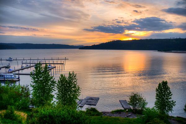 Sunset Lake Coeur D Alene