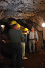Underground tunnel on Sierra Silver Mine Tour.