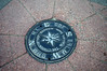 Manhole cover declares Wallace to be center of the Universe