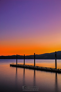 """Pastel Whisper,"" Lake Coeur d'Alene Sunset on Independence Day (July 4th), Harrison, Idaho"