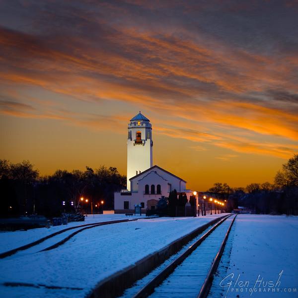 Boise Train Depot Sunrise