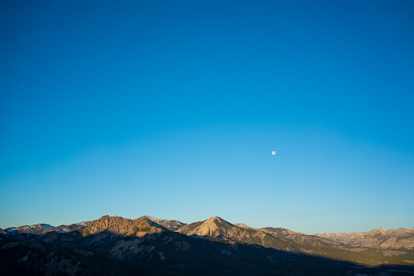 Moon and Mountains / Galena Summit